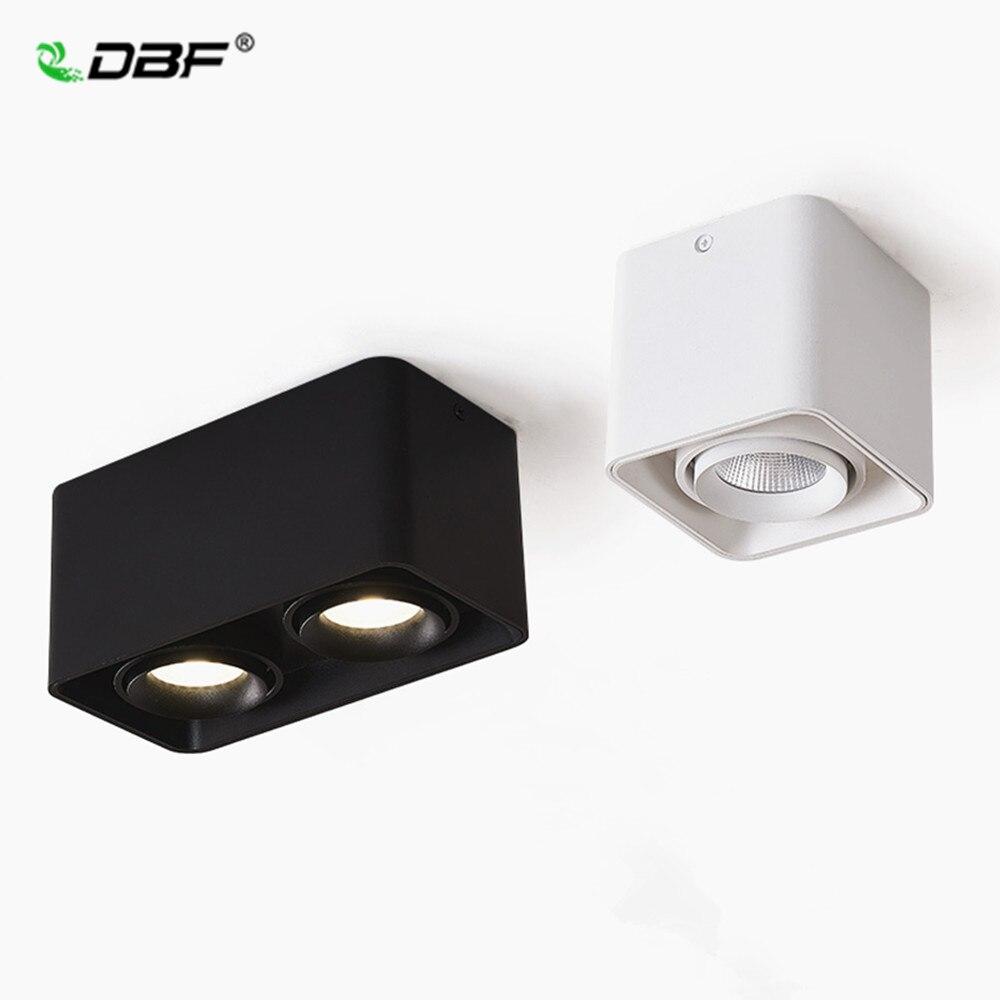 [DBF] Platz COB LED Dimmbare Downlights 10W 12W 20W 24W Oberfläche Montiert LED Decke lampen Spot Licht LED Downlights AC85V-265V