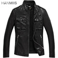 Hanmiis M65 genuine leather clothing male stand collar sheepskin leather clothing motorcycle leather jacket male