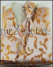 new arrive  formal wear groom  waistcoat (vest+ascot tie+cuflink+handkerchief)