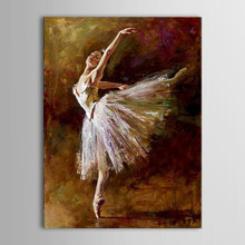 Unframed Oil Painting Handmade Hand Painted Modern Abstract Beautiful Sexy Ballerina Girl Dance Canvas