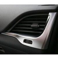 Para Jeep Cherokee 2014-2016 2 pc ABS Interior Decoração Capa Quadro Moldura do Painel Do Carro de Ventilação Left & Right adesivo