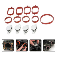 4 PCS 22mm Diesel Swirl Flap Blanks Replacement Bungs With Intake Manifold Gaskets For BMW 320d