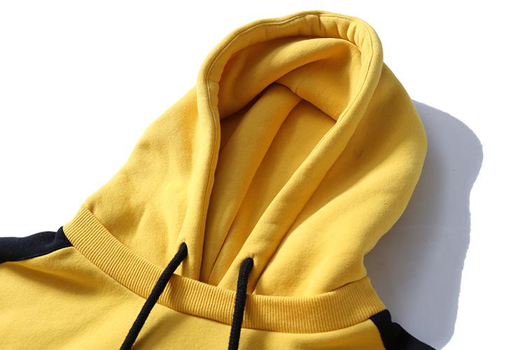 Aolamegs Hoodies Men Side Striped Hood High Street Pullover Cotton Fashion Hip Hop Streetwear Casual Big Pocket Hoodie Autumn (40)