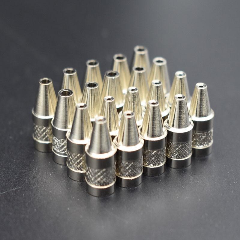 10pcs Practical 2mm Metal Nozzle Iron Tip For Electric Vacuum Solder Sucker / Desoldering Pump Welding Tools
