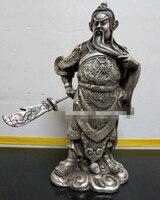 משלוח חינם עתיק הגיבור הסיני גואן גונג גואן יו פסל ברונזה * דרקון