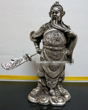 free shipping Chinese Ancient Hero Guan Gong Guan Yu bronze statue*dragon statue