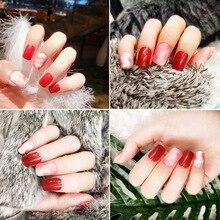 24Pcs/Set False Fake Nails Square Top Finish Designs Finger Nail Art Tips Decor JIU55