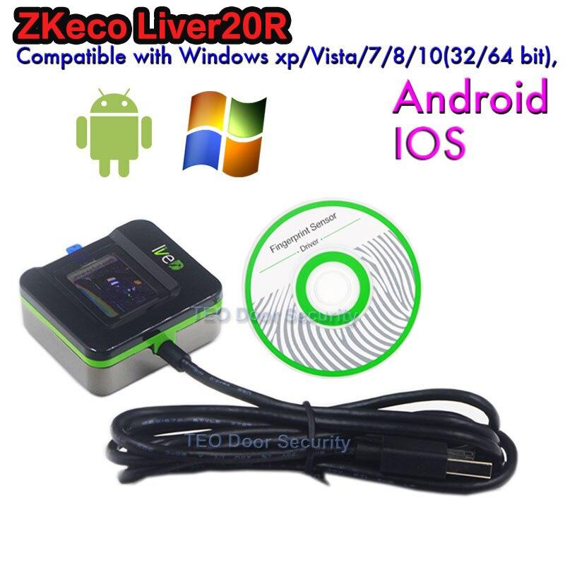 Reconocimiento de huellas dactilares dispositivo ZK LIVE20R soporte lector de huellas en Win10 software descuento especial escáner de huellas dactilares