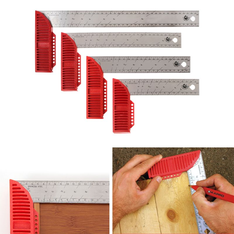 90 Degree Carpenter Woodworking Square Ruler