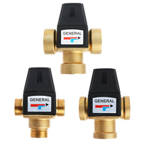 3 Way Brass DN20/DN25 Male Female Thread Water Thermostatic Mixing Valve 3/4 1 #0604
