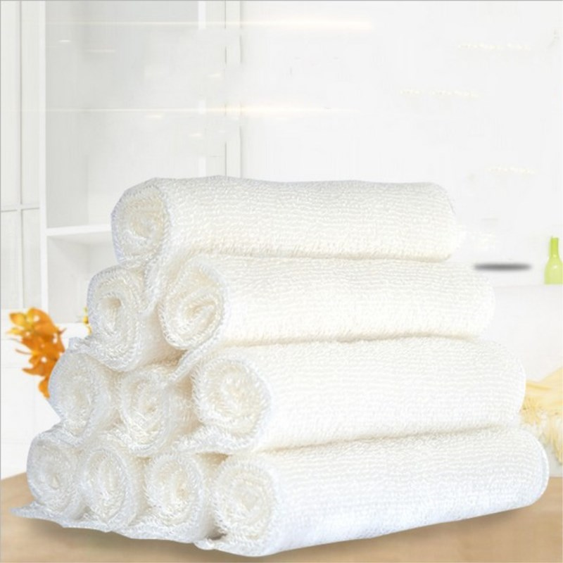 1Pc Bamboo Fiber Dish Cloths Super Absorbent Kitchen Rags for Washing Dishes Durable Cleaning Dishcloths Towels