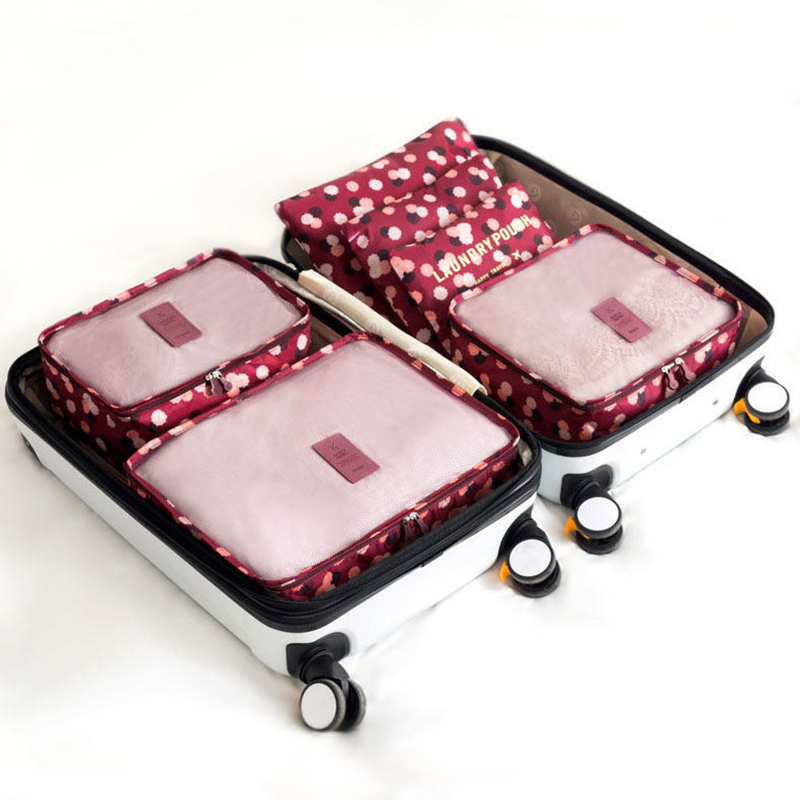 6 piece set / set Oxford knit bag travel bag storage bag luggage packaging cube storage bag high quality clothing