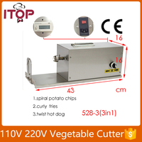 Fast Delivery! Electric Twisted Potato Cutter, Stainless Steel Potato Slicer, High Quality French Fry Cutting Machine