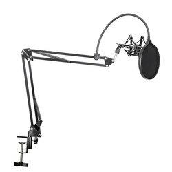 Neewer NB-35 ميكروفون مقص حامل ذراع Mic حامل قصاصة وطاولة علاقة حائطية & NW تصفية الزجاج الأمامي درع & معدن جبل عدة