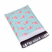 100pcs 25.5*33cm 10*13 inch Flamingo pattern Poly Mailers Self Seal Plastic mailing Envelope Bags