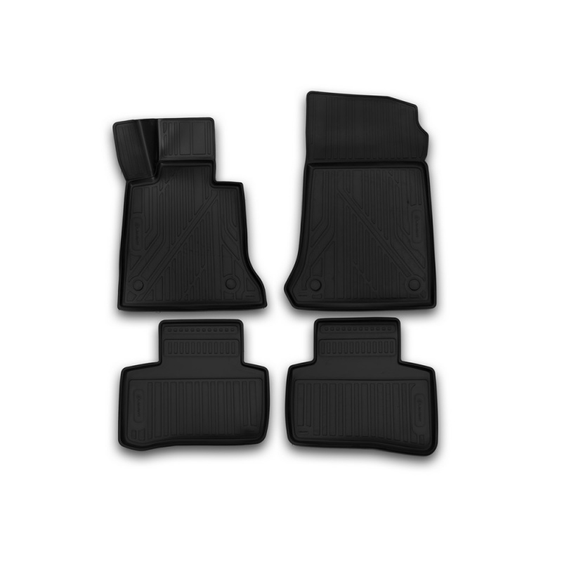 цена на Car Mats 3D salon For MERCEDES-BENZ GLK X204, 2014-> 4 PCs (polyurethane)
