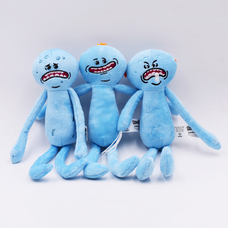 "3Styles Hot Toys 10"" 25cm Rick and Morty Plush Peluche Toy Rick Sanchez Morty Smith Mr Meeseeks Happy Sad Scientist Stuffed Doll"