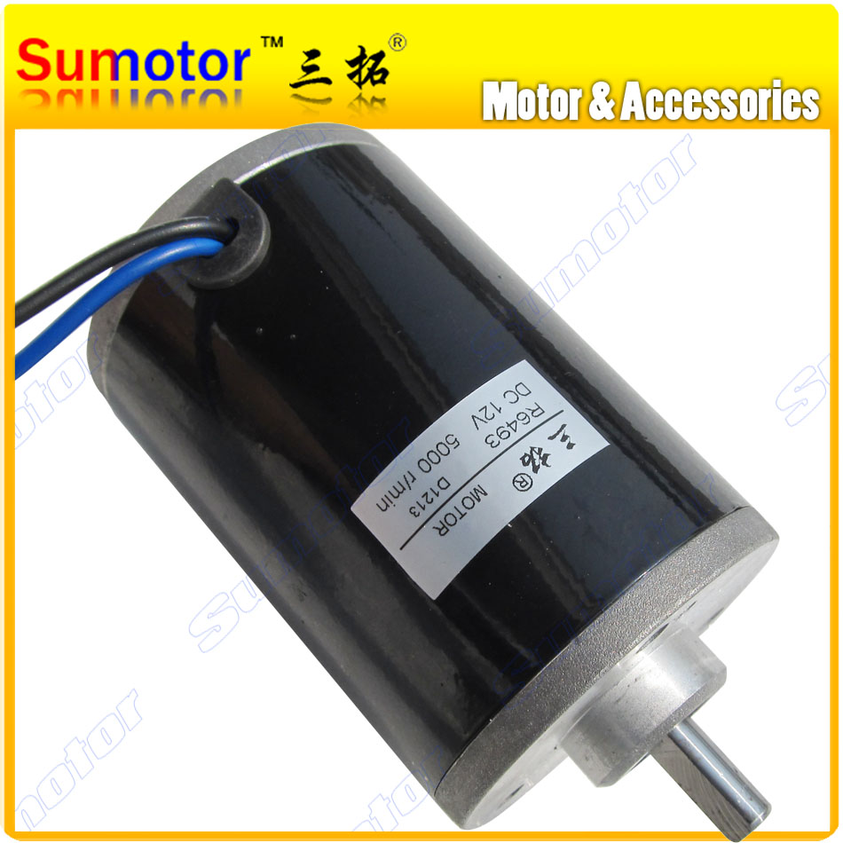 R6493 5000rpm DC 12V 100W High speed Electric Scooter motor Reversible for Ship Robot boat car model Engraving machine toolsR6493 5000rpm DC 12V 100W High speed Electric Scooter motor Reversible for Ship Robot boat car model Engraving machine tools
