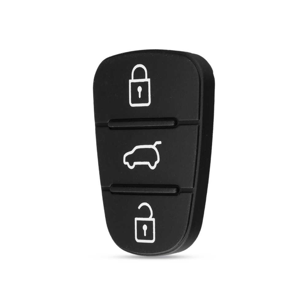 Dandkey 3 Düğmeler silikon araba anahtarı kapağı Kauçuk Padbutton Için Hyundai Solaris Accent Tucson l10 l20 l30 Kia Rio Ceed