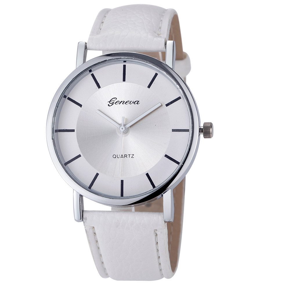 2018 Lover Unisex horloge Dames Heren klok Quartz Analoog PU lederen - Dameshorloges