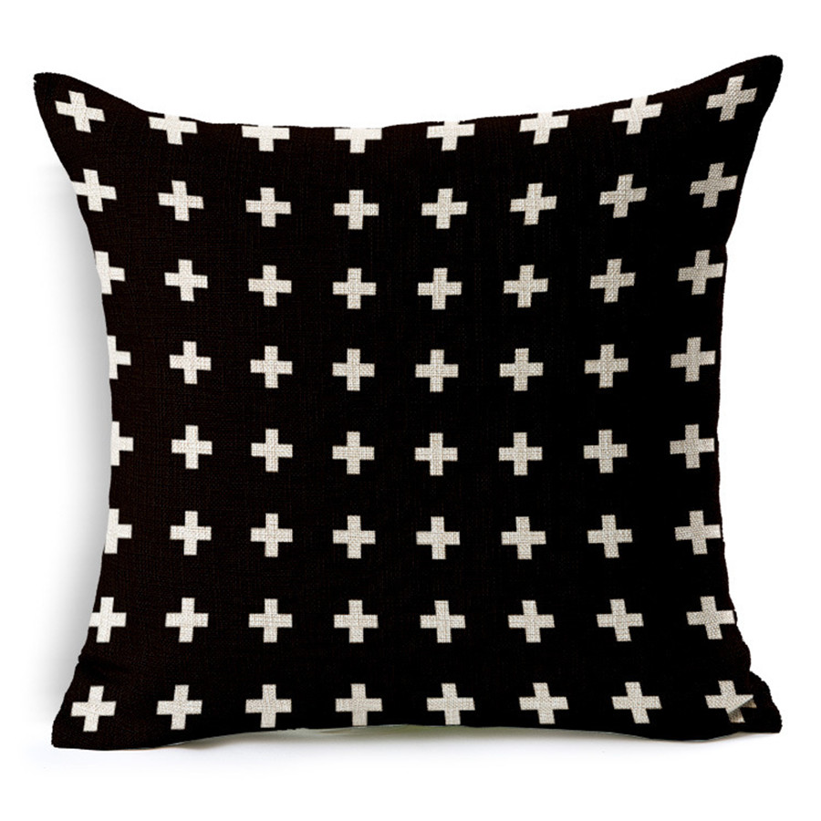 Thick Texture Pillow Cushion For 1pc TX57 Fashion Trendy Black And White Color Combination Hotel Office Seating 45cm 18inch In Cover From Home