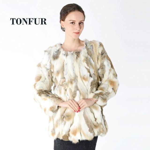 9c8ec856 New Arrival 100% Real Rabbit Fur Coat Hot sale Women Nature Fur Jacket  Wholesale factory Real Fur Coat DNT125