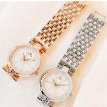 New Hot Sale Watch High-End Chain Linked List Custom Full Rhinestone Female