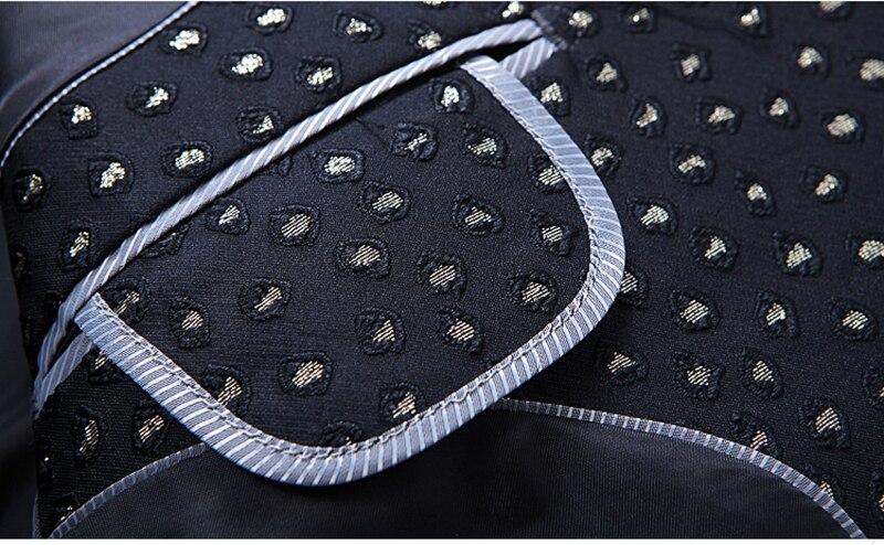Luxury Business Black Flower Blazer Point Jacquard Men Casual 2019 Autumn Blazer Hombre Suit Jacket Men Plus Size 5xl 4xl - 5