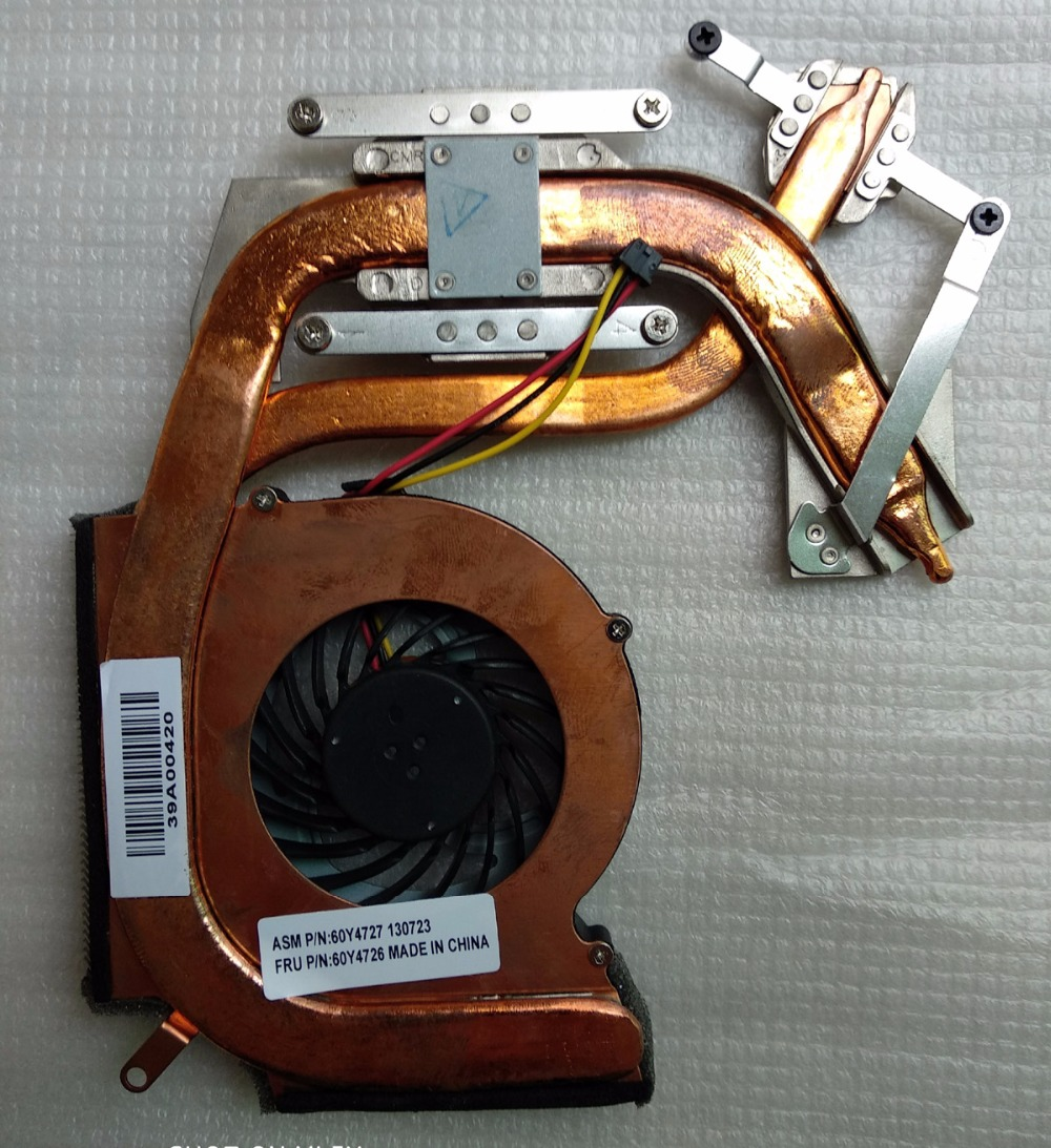 New Original CPU cooling heatsink /fan for Lenovo Thinkpad SL410 SL410K SL510 SL510K laptop independent graphics 60Y4726 60Y4727 genuine for lenovo thinkpad e440 e540 cpu cooling fan heatsink 04x4159