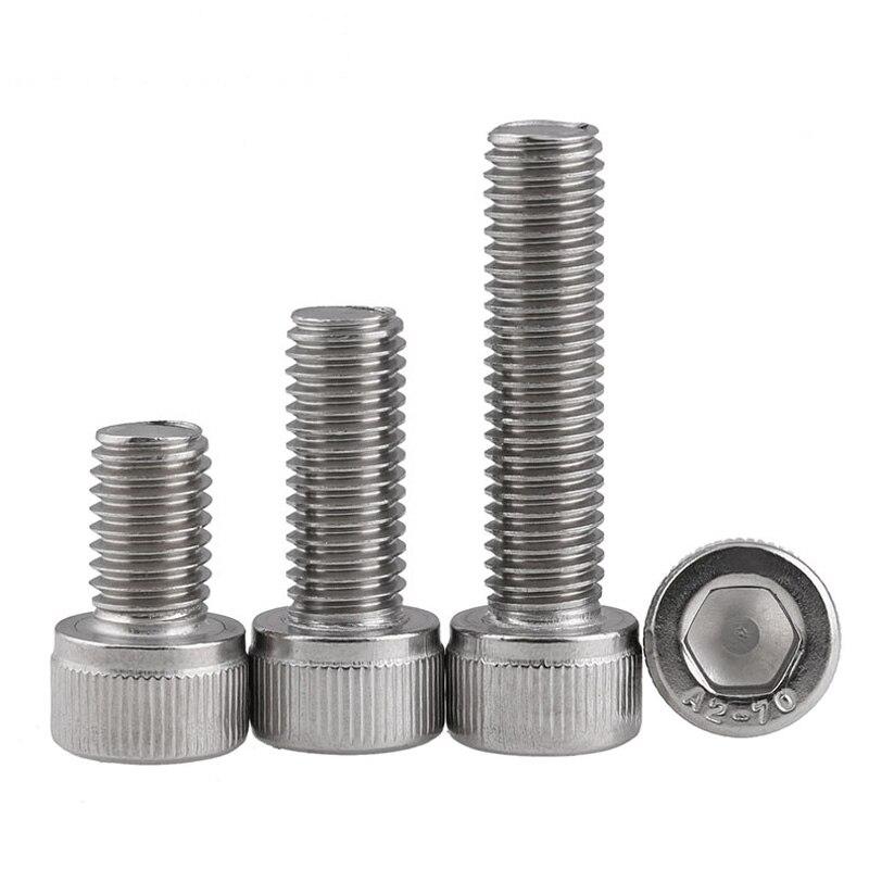 M4*4/5/6/8/10/12/14/15/16/18/20...70 DIN912 304 Stainless Steel Hexagon Socket Screws флагшток yu kai 10 12 304 15 18