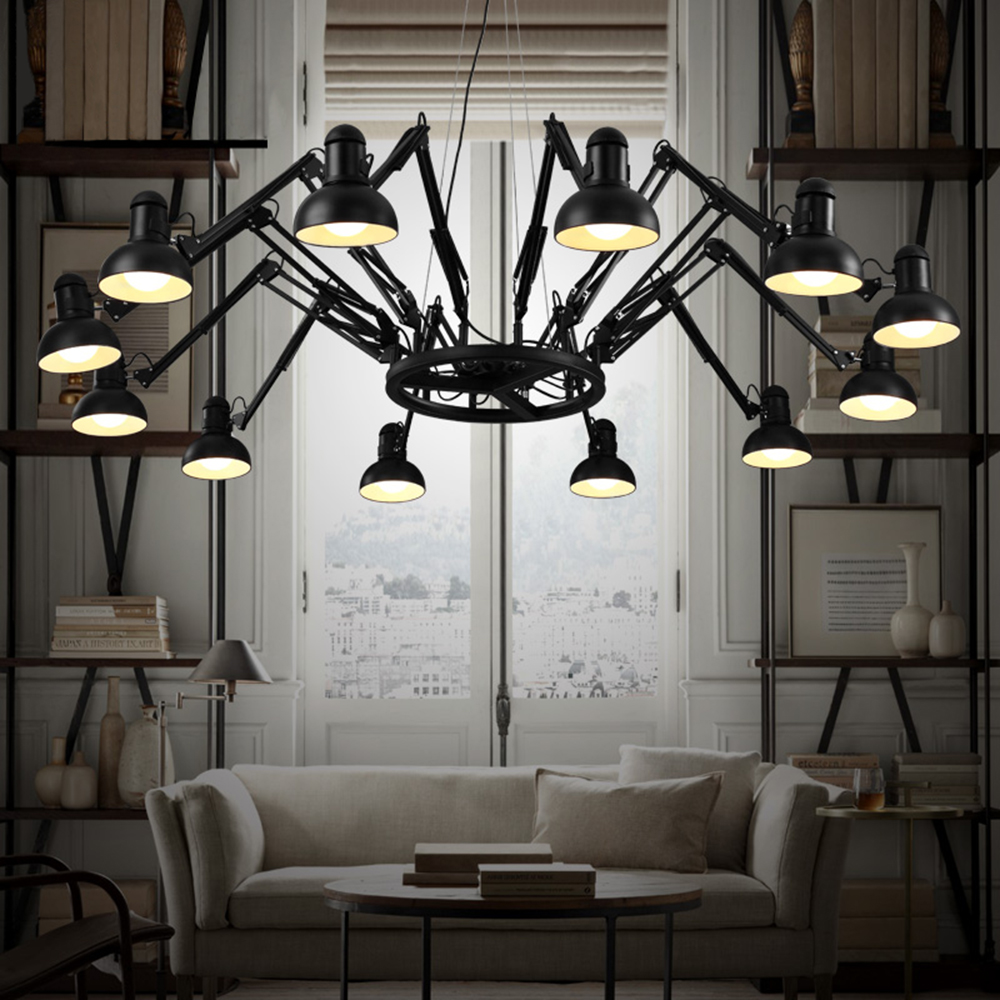 Creative Led Pendant Lights Modern Light Fixtures Vintage Pendant Lamp Metal Led E27 Holder Dining Room Bar Black/White 110/220V black white creative pendant light ac220v 110v e27 metal modern led lamp pendant light lamp dia32x24cm hanging lamps for bedroom