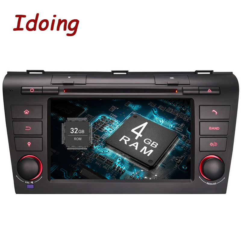 Idoing 2Din Android8 0 Car DVD Multimedia Radio Player For Mazda3 Steering Wheel Fast Boot 8Core