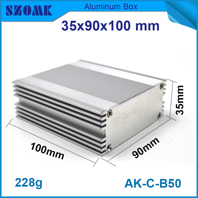 10pcs/lot electronic aluminium extrusion housing metal project box for controller 35x90x100mm 10pcs lot isl6218crz isl6218 isl62 18crz 6218crz single phase imvp iv controller for intel pentium m