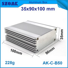 10pcs/lot electronic aluminium extrusion housing metal project box for controller 35x90x100mm