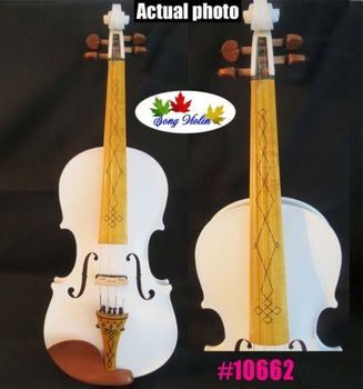 White colors best craft 3/4 electric violin Acoustic violin