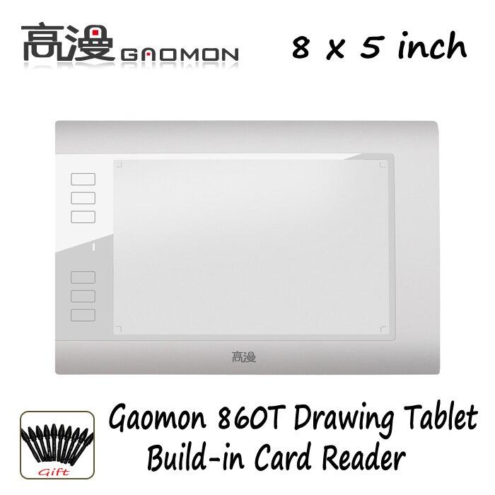 Ücretsiz Kargo Promosyon Gaomon 860 T Grafik Tablet Dijital Kalem Tablet Çizim Tablet Dijital Kalem Ile Destek TF Kartı Beyaz