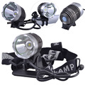 SingFire SF-90 CREE XML T6 led 4-Mode 1000lm White Bicycle Headlamp - Silver + Grey (4 x 18650)