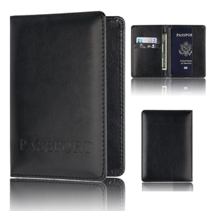 Casual PU Leather Passport Covers Travel Accessories ID Bank Credit Card Bag Men Women Passport Fashion leather Passport Holder