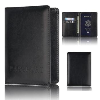 Na co dzień PU skórzane etui na paszport akcesoria podróżne ID kredytowej banku torba na karty mężczyźni kobiety paszport moda skóra posiadacza paszportu paszport tanie i dobre opinie Akcesoria podróżnicze Stałe Paszport okładki PU Leather T031 14 2cm 10 5cm SOBU