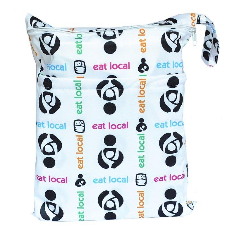 [Sigzagor] 1 Влажная сухая сумка с двумя молниями для детских подгузников, водонепроницаемая сумка для подгузников, розничная и, 36 см x 29 см, на выбор 1000 - Цвет: WH5