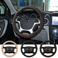High grade brand top layer Anti-slip Breathable cow leather car steering wheel cover eco-friendly very good hand feel covers