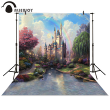 Allenjoy photography backdrop background photo studio baby forest Castle Creek Cartoon toile princess props photocall photobooth