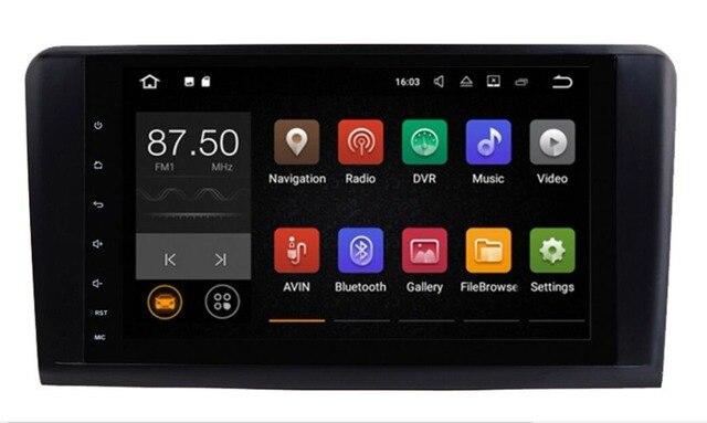 9 дюймов ips 1024*600 Quad core Android 8,1 автомобильный DVD gps для Mercedes Benz ML W164/GL X164 ML350 ML320 ML280 GL350 GL450 2005-2012