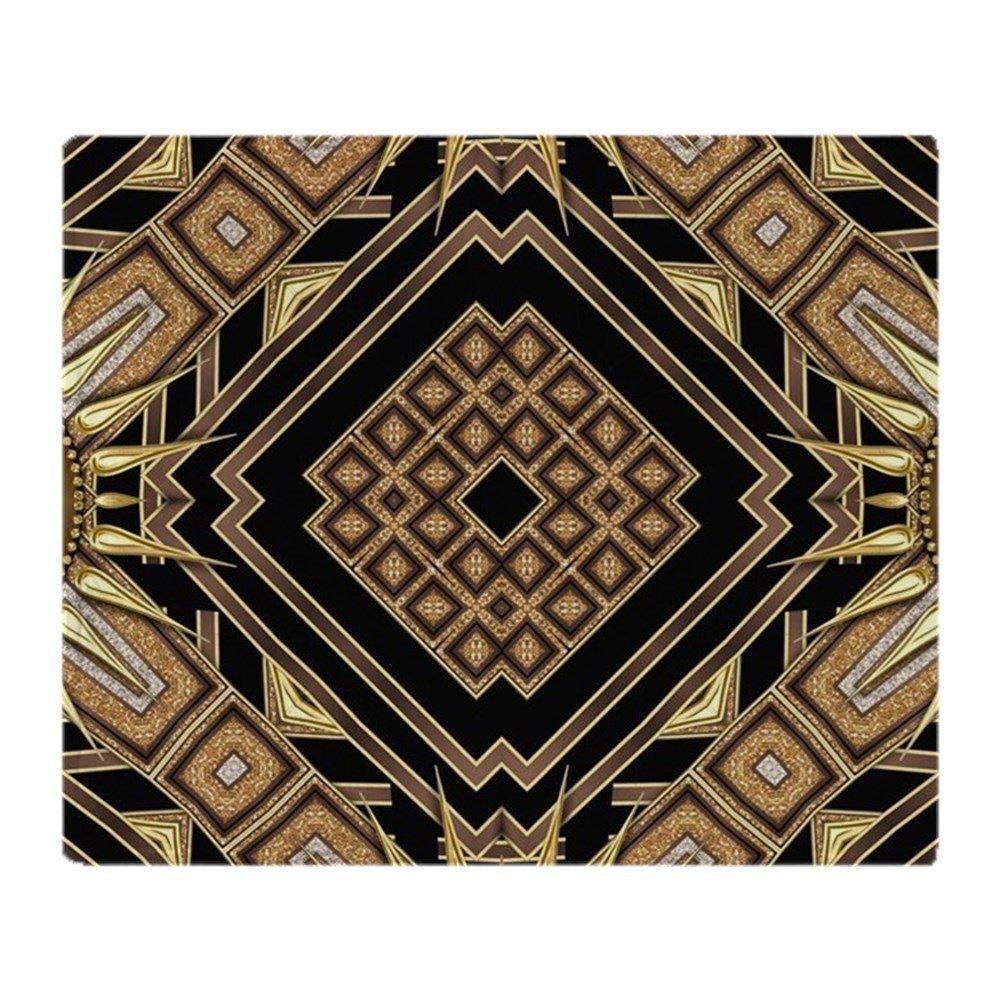 Art Deco Black Gold 1 Soft Fleece Throw