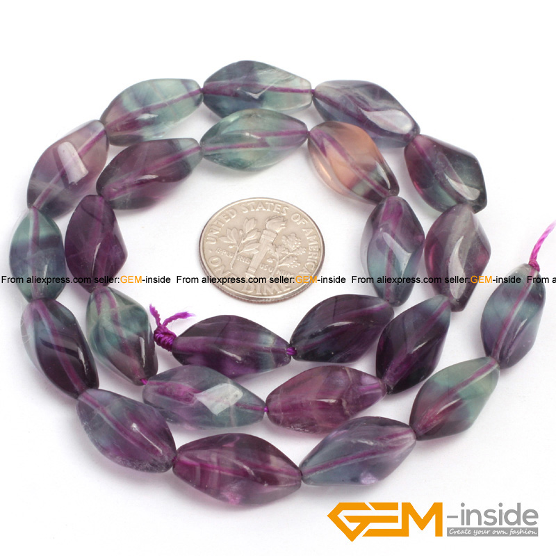 8x16mm twist fluorite beads natural stone loose beads for jewelry making beads strand 15 inches ( 38 cm ) wholesale !
