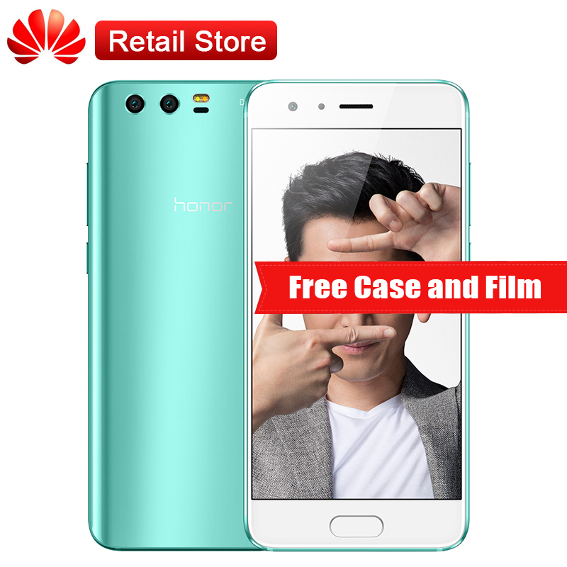 Global Huawei Honor 9 6 GB RAM 64 GB ROM L09 5.15 ''Octa Core 3 Cameras Android 7.0