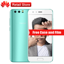 "International Firmware Huawei Honor 9 6 GB RAM 64 GB ROM L09 5.15 ""Octa Core Téléphone 3 Caméras Android 7.0 3200 mAh D'empreintes Digitales NFC"