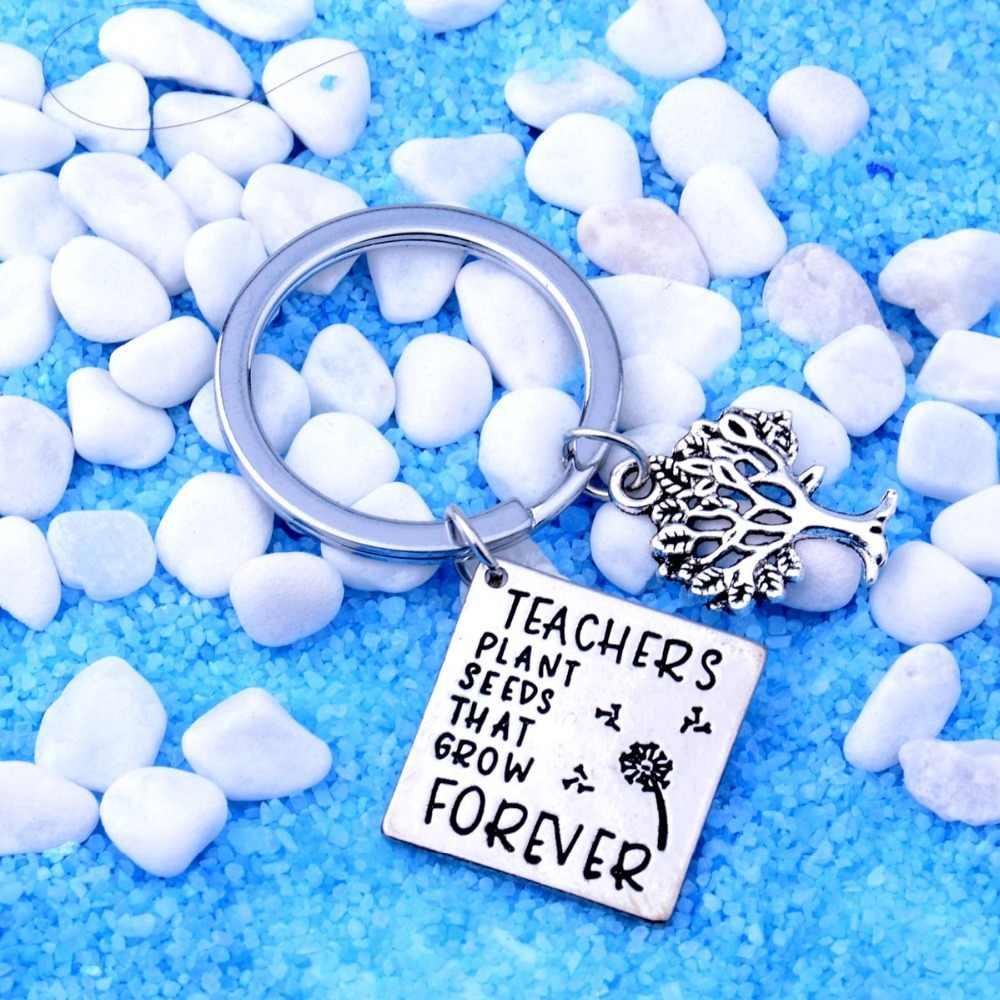 LLavero de maestro, amor, corazón, amor, Inspire Teach, se necesita un gran corazón, mano, abrir un mundo, semillas, llavero, gracias