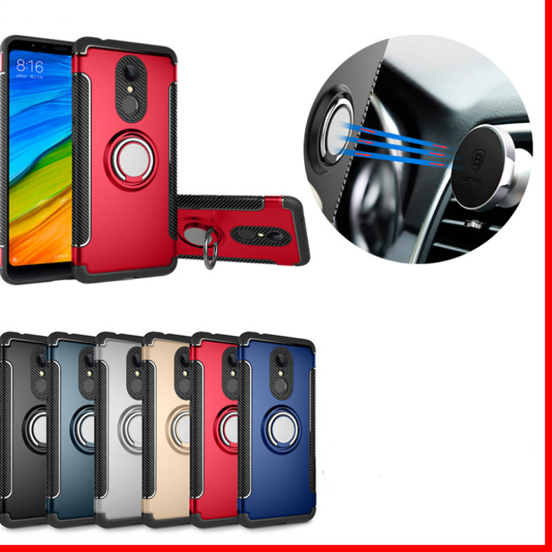 Shockproof Phone Case cover For Xiaomi  6 6X For Redmi Note 5 4X Hybrid Magnetic Bracket Cover car Ring Holder Cover TPU-in Flip Cases from Cellphones & Telecommunications