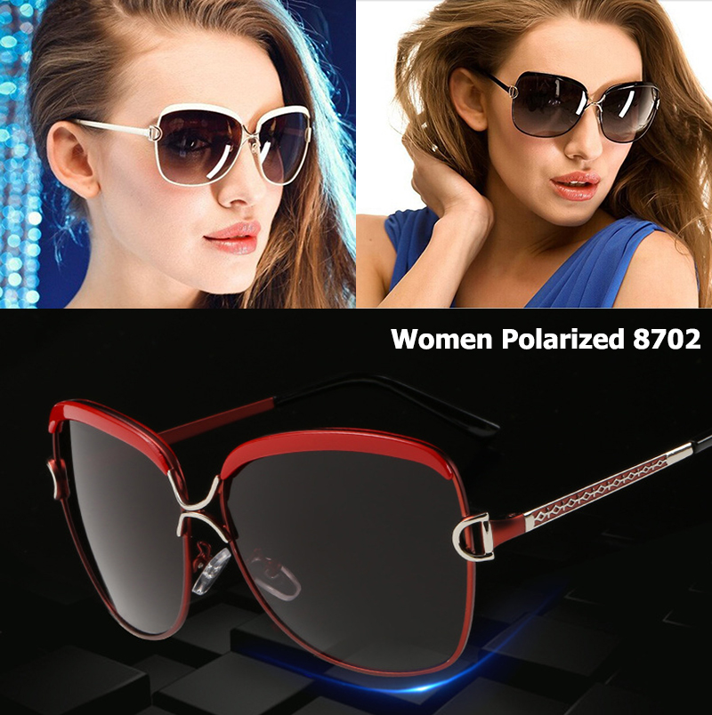 HD Polarized Sunglasses Women Vintage Red Frame Sun Glasses Ladies Luxury Brand Designer Female Eyeglasses Outdoor Goggles UV400 in Women 39 s Sunglasses from Apparel Accessories